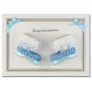 Congratulations Booties Blue