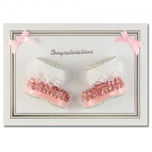 Congratulations Booties Pink