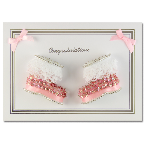 Congratulations Booties Pink