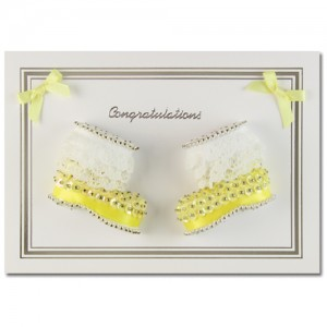 Congratulations Booties Lemon