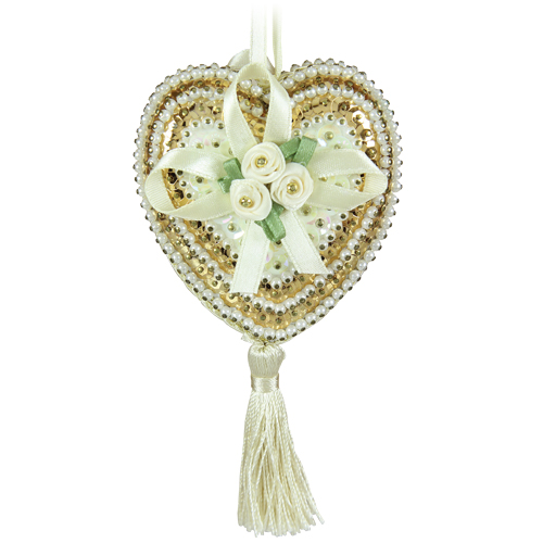 Hearts & Roses Cream/Gold