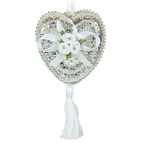 Hearts & Roses White/Silver