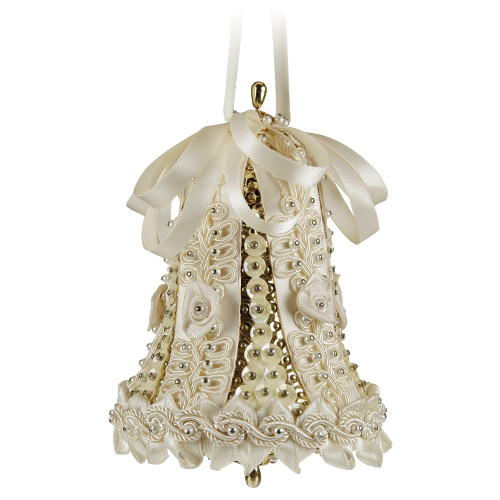 Large Wedding Bell Ivory/Gold