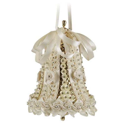 Large Wedding Bell Ivory/Gold