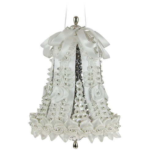 Large Wedding Bell White/Silver
