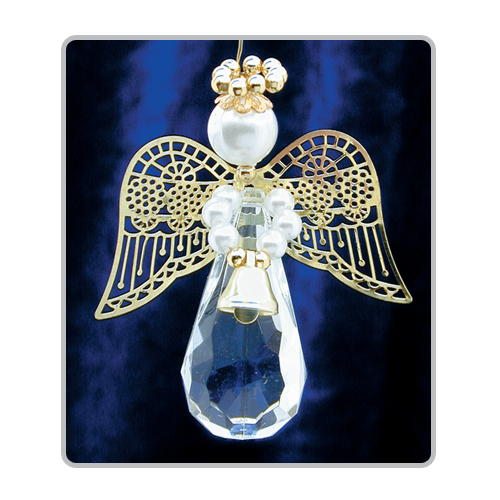 Crystal Teardrop Angels-Gold