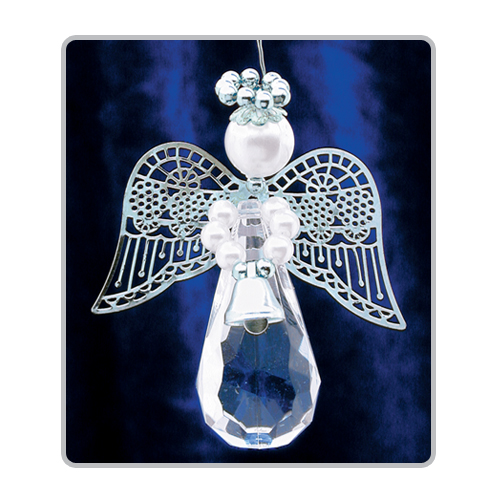 Crystal Teardrop Angels-Silver