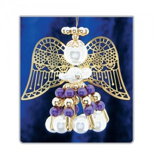 Safety Pin Angels Purple/Gold