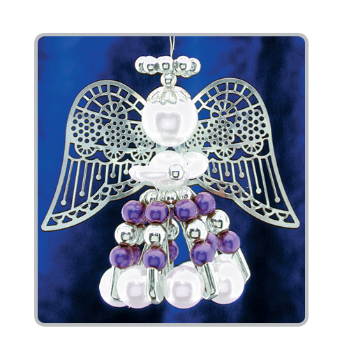 Safety Pin Angels Purple/Silver