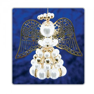 Safety Pin Angels White/Gold