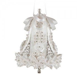 Medium Wedding Bell White/Silver