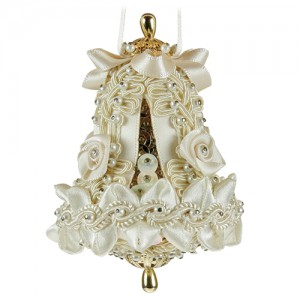 Small Wedding Bell Ivory/Gold