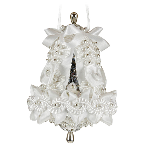 Small Wedding Bell White/Silver
