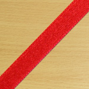 7mm Satin Ribbon Red