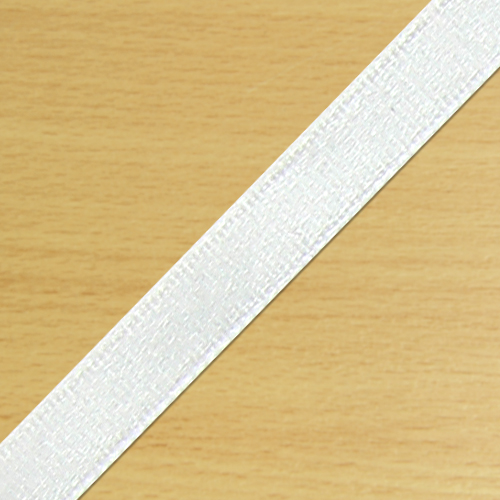 7mm Satin Ribbon White