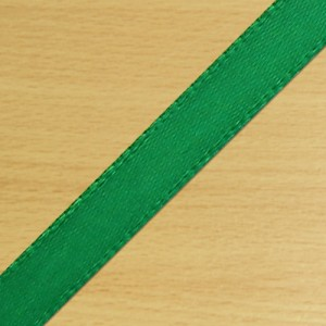 7mm Satin Ribbon Green