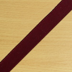 7mm Satin Ribbon Burgundy