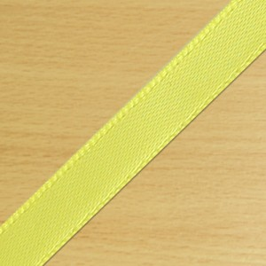 7mm Satin Ribbon Yellow