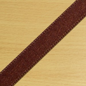 7mm Satin Ribbon Brown