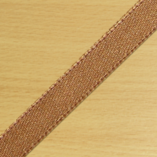 7mm Satin Ribbon Light Brown