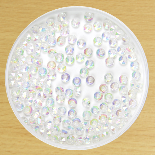 6mm Rondelle Bead Clear
