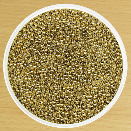 3mm Round Bead Gold