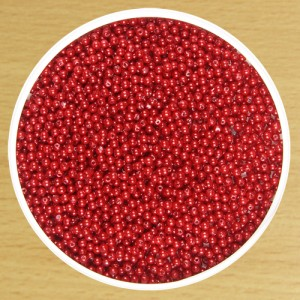 3mm Round Bead Red