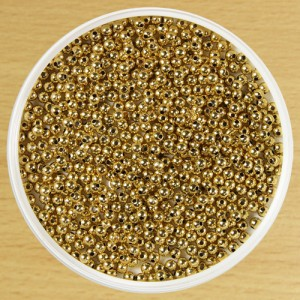 4mm Round Bead Gold