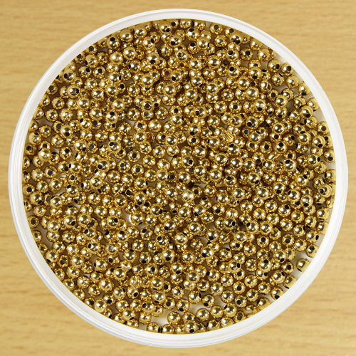 4mm Round Bead Gold