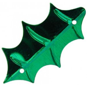 Green Holly Leaf Sequin