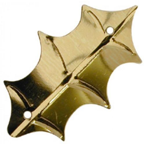 Gold Holly Leaf Sequin