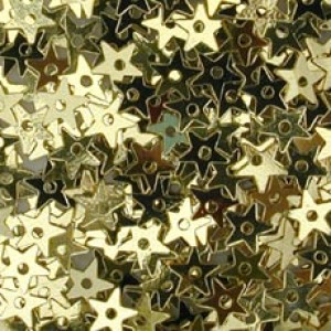 Gold Small Star Sequin