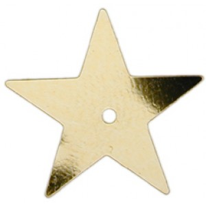 Gold Large Star Sequin