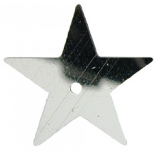Silver Large Star Sequin