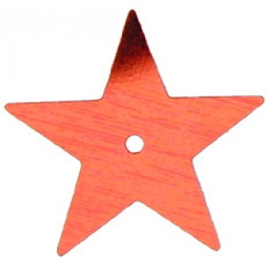 Red Large Star Sequin