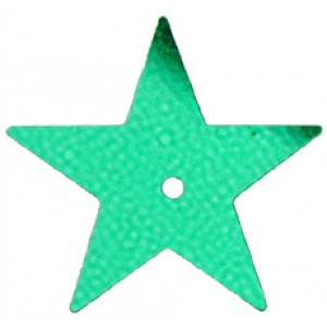 Green Large Star Sequin