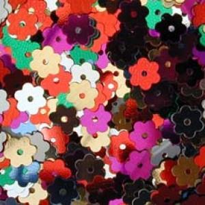Multi Col Tiny Flower Sequin