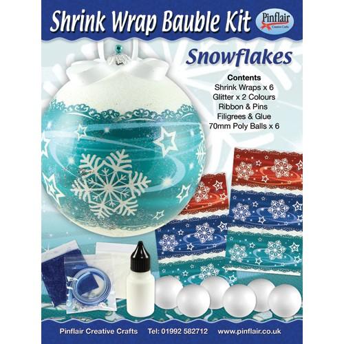 Snowflakes Shrink Wraps