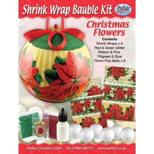 Christmas Flowers Shrink Wraps