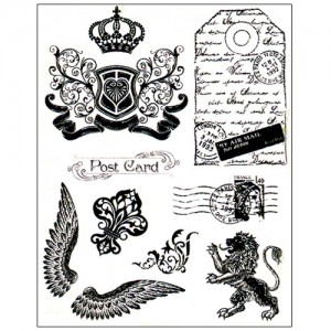 Stamp set: Crown, Lion and Wings