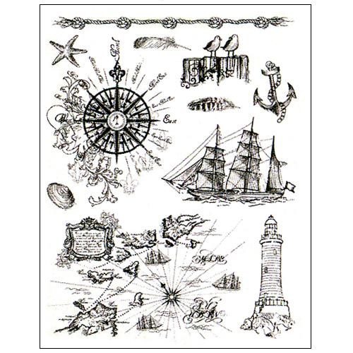 Stamp set: At the Seaside