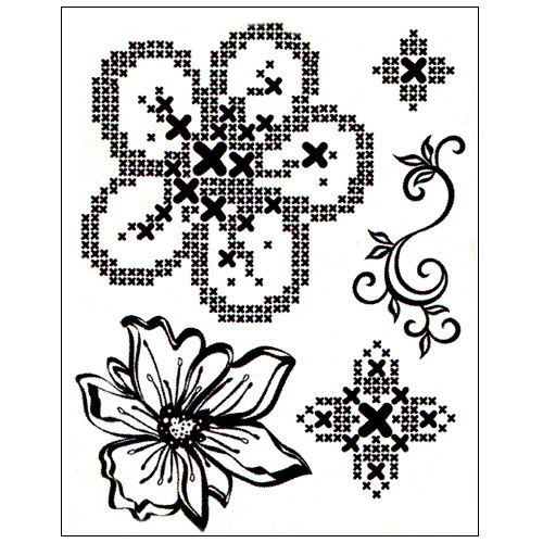 Stamp set: Cross Stitch Flowers