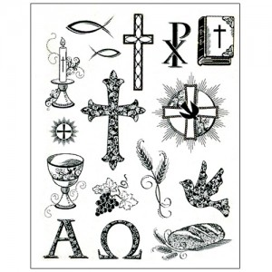 Stamp set: Christian Symbols