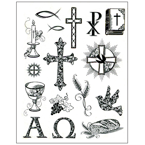 Stamp set: Christian Symbols