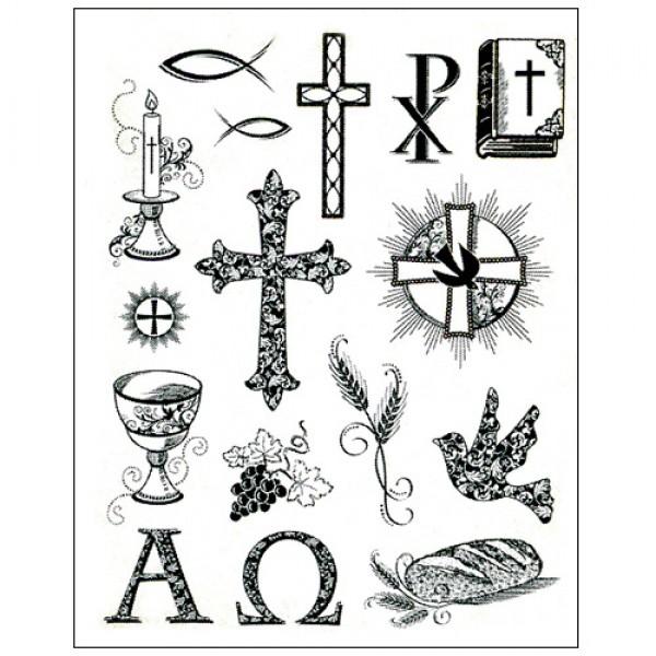 Stamp Set Christian Symbols
