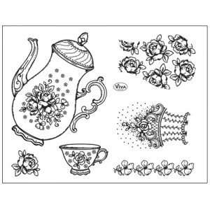 Stamp set: Time for Tea