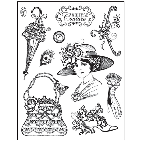 Stamp set: Vintage Couture
