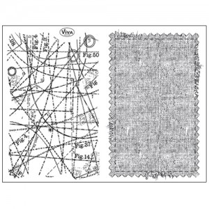 Stamp set: Sewing Pattern and Fabric
