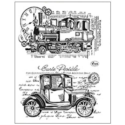 Stamp set: Vintage Trains
