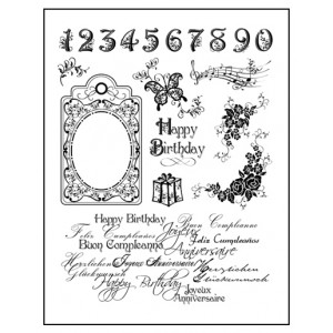 Stamp set: Happy Birthday, Numbers and Tag